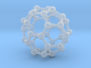 0149 Fullerene C40-37 c2v in Smoothest Fine Detail Plastic