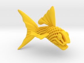 Artistic Fish Sculpture  in Yellow Processed Versatile Plastic