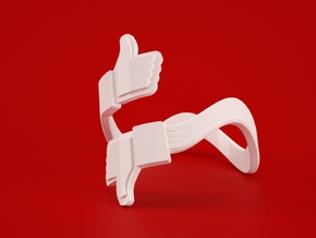 Social Link Ring 6 in White Natural Versatile Plastic