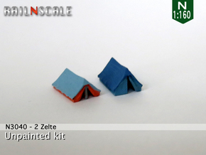 2 Zelte (N 1:160) in Smooth Fine Detail Plastic