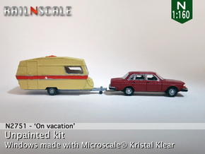 SET Volvo 244 + Polar 470 (N 1:160) in Smooth Fine Detail Plastic