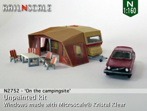 Camping Set (N 1:160) in Smooth Fine Detail Plastic