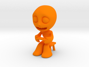 MTI-newfella pose 1 in Orange Processed Versatile Plastic