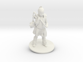 Chris M. As Warrior Girl in White Natural Versatile Plastic