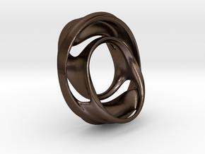 Julia Set Pendant no.4 (steel) in Polished Bronze Steel