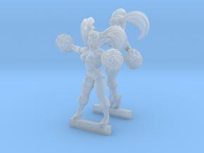 Cheerleader Twins in Smooth Fine Detail Plastic