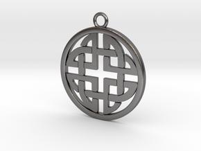 Celtic Pendant 4  in Polished Nickel Steel