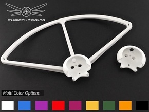 2x. DJI Phantom Prop Guard Connector (V4) in White Processed Versatile Plastic