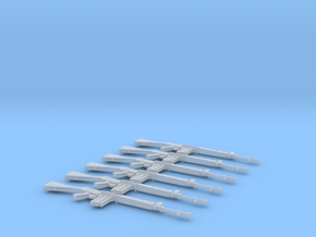 1/48 scale FN FAL rifles in Smooth Fine Detail Plastic