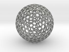 Polyhedra D75mm in Metallic Plastic