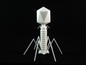 Virus Figurine in White Natural Versatile Plastic