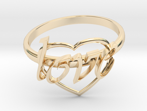 Ring Of Love in 14K Yellow Gold