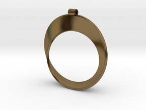 Moebius Strip in Polished Bronze