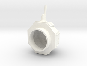 "M1917 Turret, ""Male"" in White Processed Versatile Plastic"