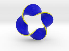 0160 Mobius strip (p=4, d=10cm) #008 in Full Color Sandstone