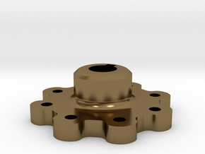 Ultra High Strength Wheel Hub (17mm shaft) in Polished Bronze