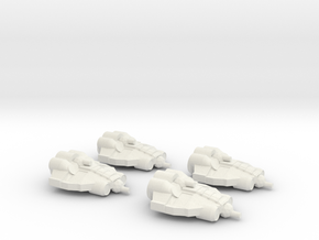 Alliance Fighter Wing in White Natural Versatile Plastic