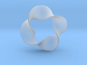 0160 Mobius strip (p=4, d=10cm) #008 in Smooth Fine Detail Plastic