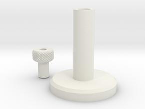 Jetpack Adjustment Knob in White Natural Versatile Plastic