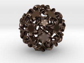 Multitudinous Möbius (2 in) in Polished Bronze Steel