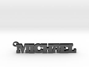 Michael Keychain (Pendant) in Matte Black Steel