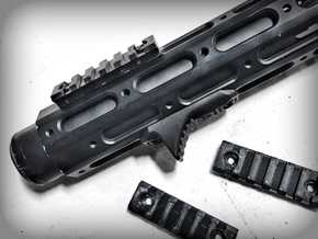 Rail Segment ARES Amoeba Honey Badger (AM-013) in Black Natural Versatile Plastic