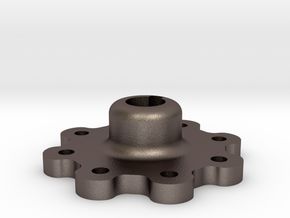 High Strength Wheel Hub (17 mm) in Polished Bronzed Silver Steel