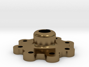 High Strength Wheel Hub (17 mm) in Polished Bronze
