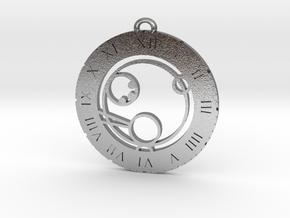 Paul - Pendant in Natural Silver