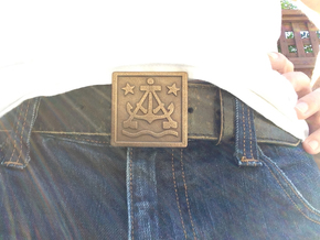 Alameda Belt Buckle 2 inch in Matte Bronze Steel
