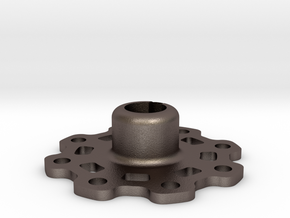 Lightweight Wheel Hub (17 mm) in Polished Bronzed Silver Steel