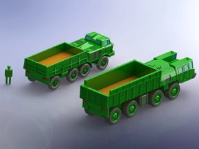 MAZ 7310 / ZIL 135 Trucks  1/220 Z-Scale in Smooth Fine Detail Plastic