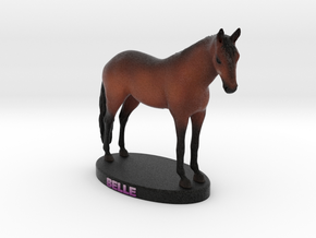 Custom Horse Figurine - Belle in Full Color Sandstone