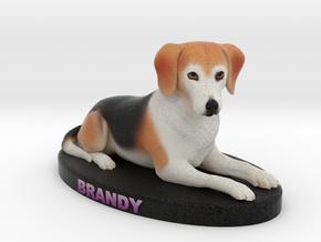 Custom Dog Figurine - Brandy in Full Color Sandstone