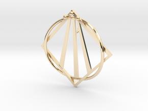 Awen Bard Pendant in 14K Yellow Gold