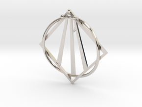 Awen Bard Pendant in Platinum