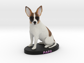 Custom Dog Figurine - Jojo in Full Color Sandstone