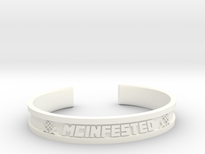 McBracelet (2.8 Inches) in White Processed Versatile Plastic