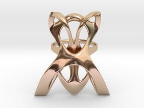 INTERLACE RING (US 6 / GER 53 / Ø inside 16,9 mm) in 14k Rose Gold Plated Brass