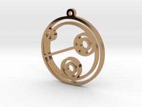 Julie - Necklace in Polished Brass