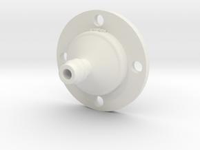 Drip Nozzle (3/8 Inch, 4 Holes) - 3Dponics  in White Natural Versatile Plastic