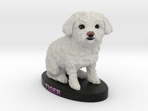 Custom Dog Figurine - Tiger in Full Color Sandstone