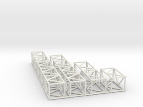 "16""sq Box Truss Sampler 1:48 in White Natural Versatile Plastic"
