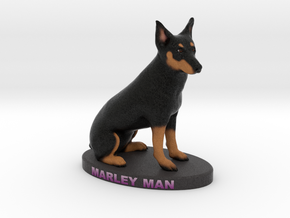 Custom Dog Figurine - Marley in Full Color Sandstone
