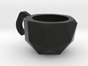 Snub Cube Cup in Black Natural Versatile Plastic