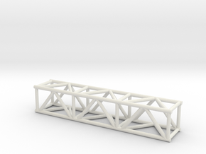 "5' 12""sq Box Truss 1:48 in White Natural Versatile Plastic"