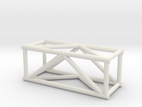 "2'6"" 12""sq Box Truss 1:48  in White Strong & Flexible"