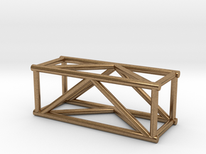"2'6"" 12""sq Box Truss 1:48  in Natural Brass"