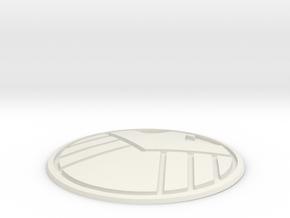 S.H.I.E.L.D. Badge in White Strong & Flexible
