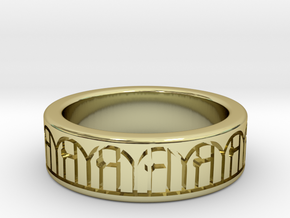3D Printed Harmony Ring Size 7 by bondswell3D in 18k Gold Plated Brass